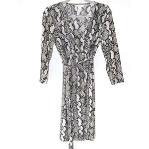 Maternity H&M Snakeskin Wrap Dress